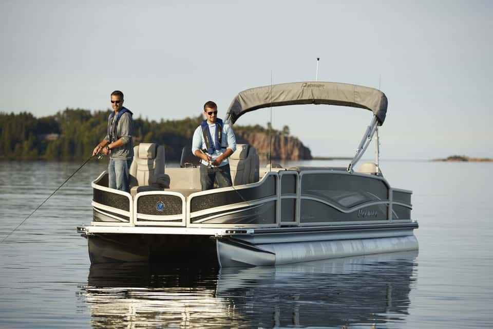 15 best pontoon boats for every purpose pontooners for Best fishing pontoon boat