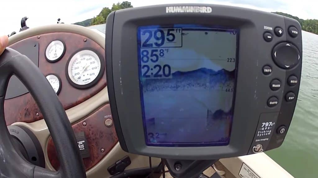 how to install a fish finder on a pontoon boat