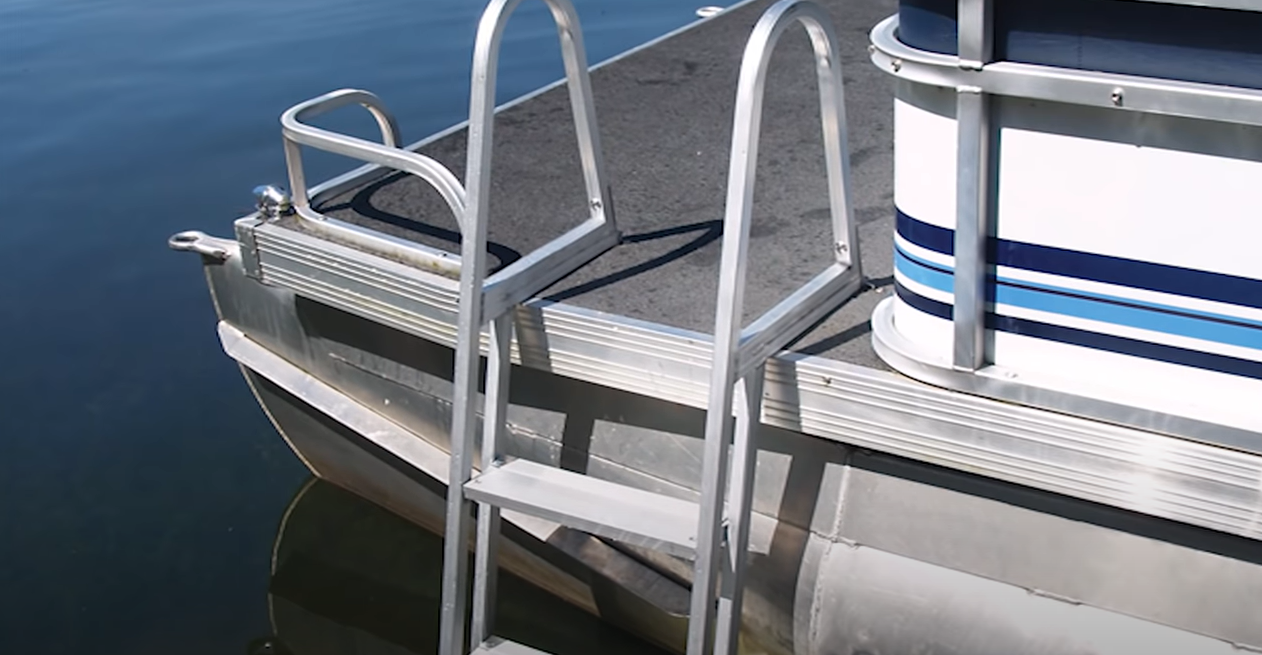 different types of pontoon boat ladders