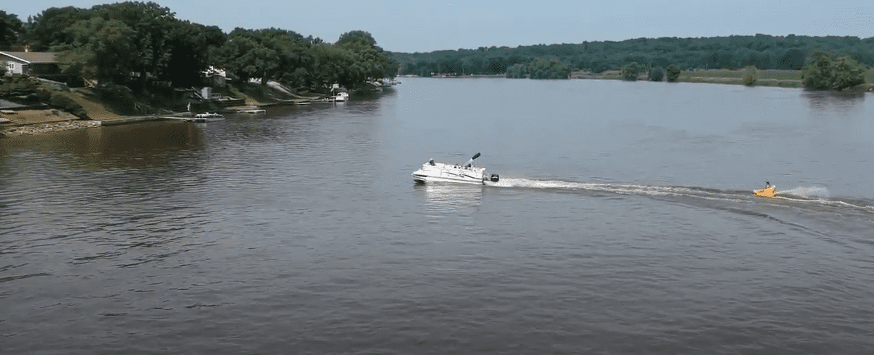 tubing with a pontoon boat