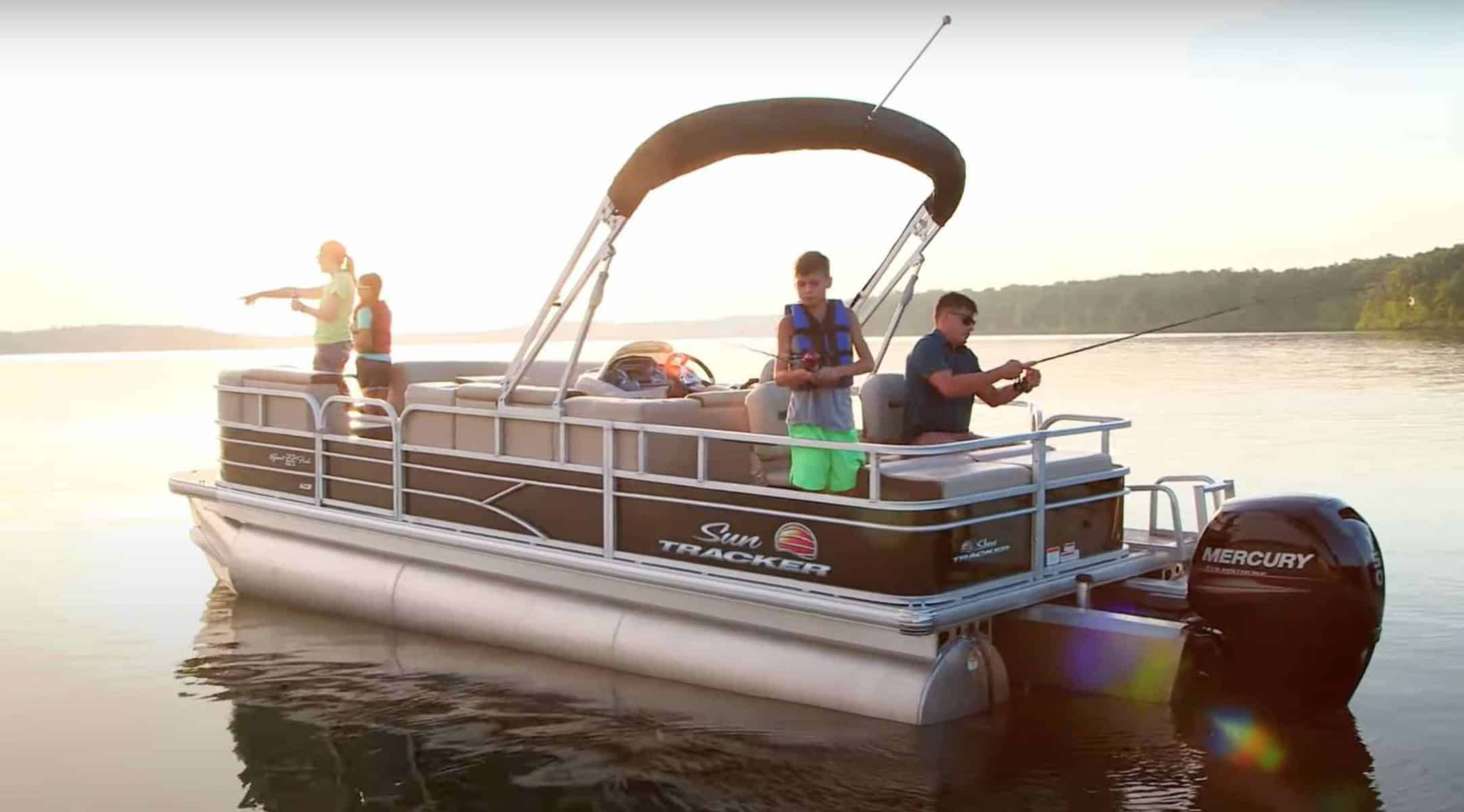 fishing from a pontoon boat