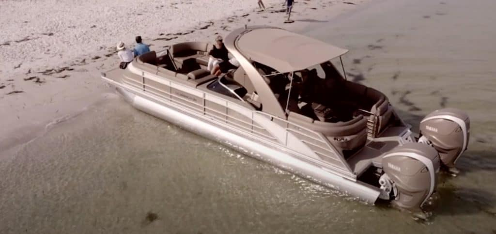 how shallow can a pontoon boat go
