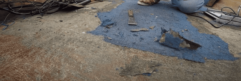 how to remove carpet from a pontoon boat