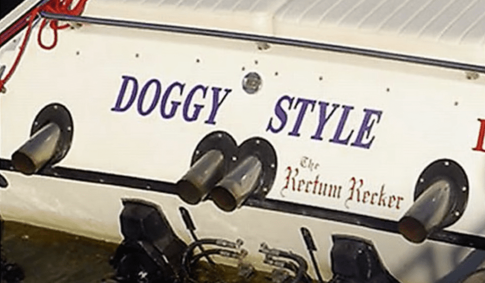 inappropriate boat names