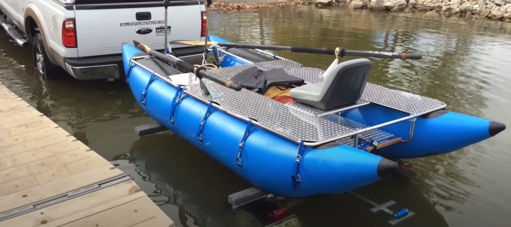 inflatable pontoon boat trailers