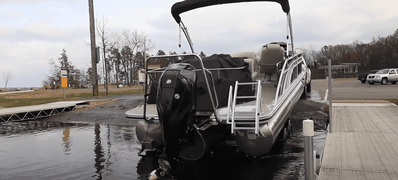 how to launch a pontoon boat in shallow water