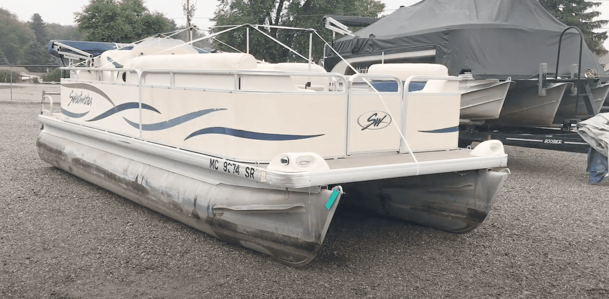 pontoon boat cover support systems